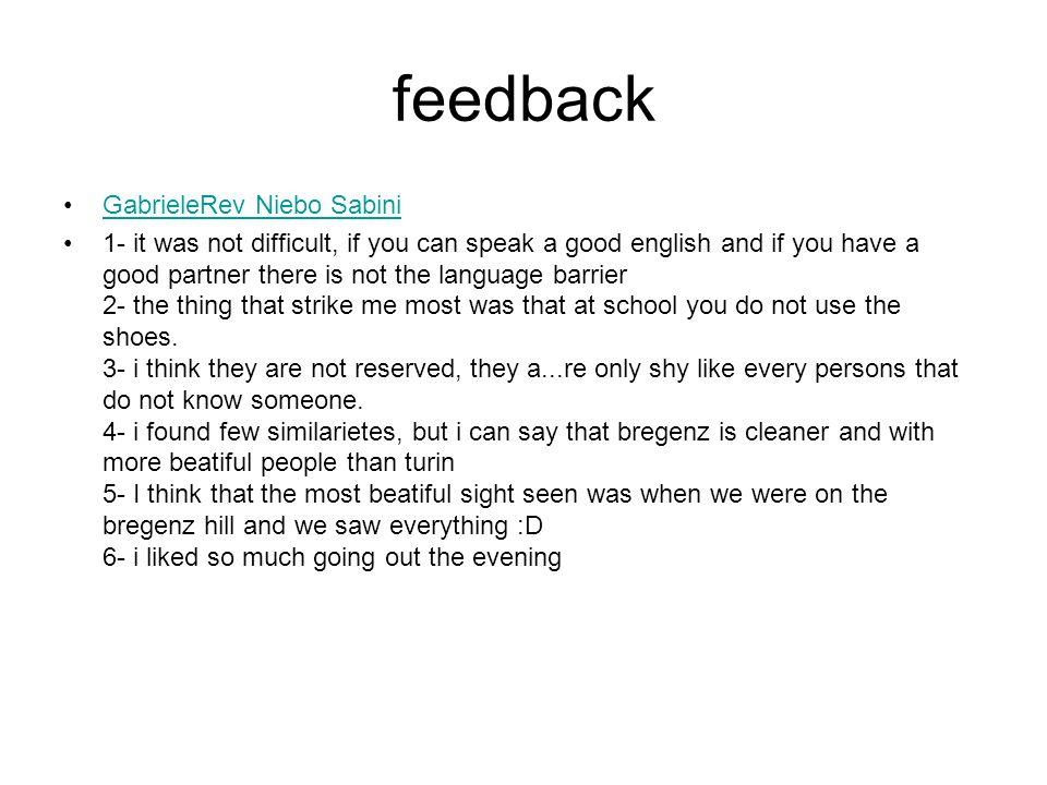 feedback GabrieleRev Niebo Sabini