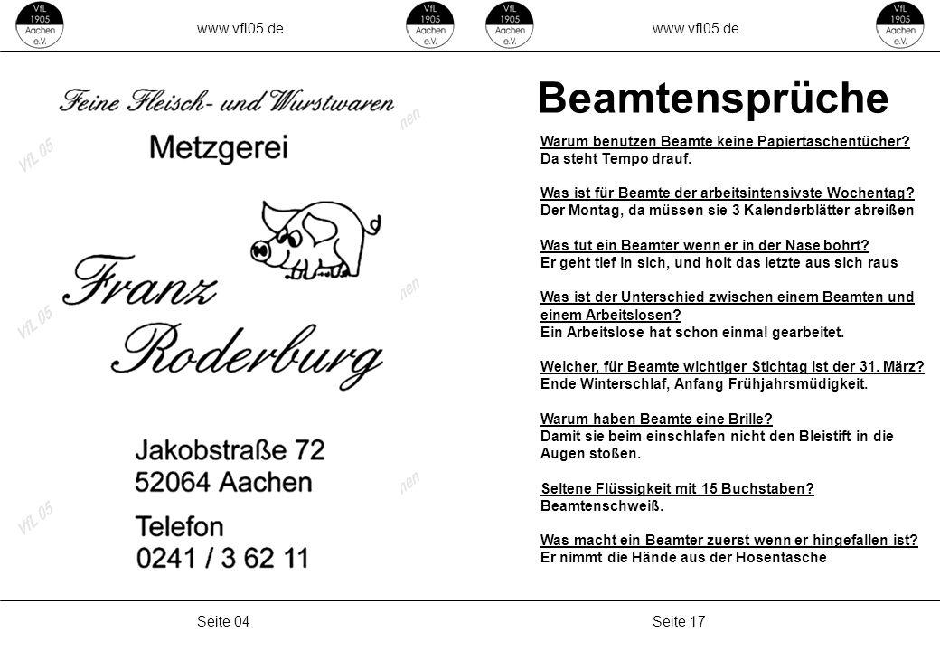 Beamtensprüche www.vfl05.de www.vfl05.de