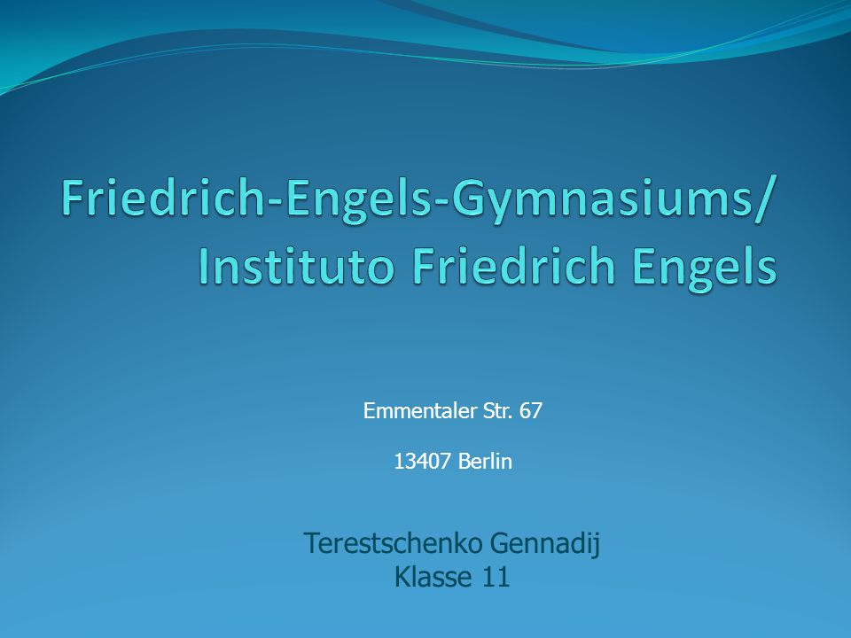 Friedrich-Engels-Gymnasiums/ Instituto Friedrich Engels