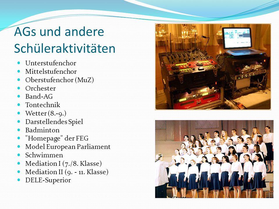 AGs und andere Schüleraktivitäten