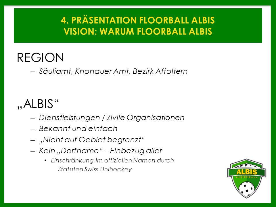 4. PRÄSENTATION FLOORBALL ALBIS VISION: WARUM FLOORBALL ALBIS