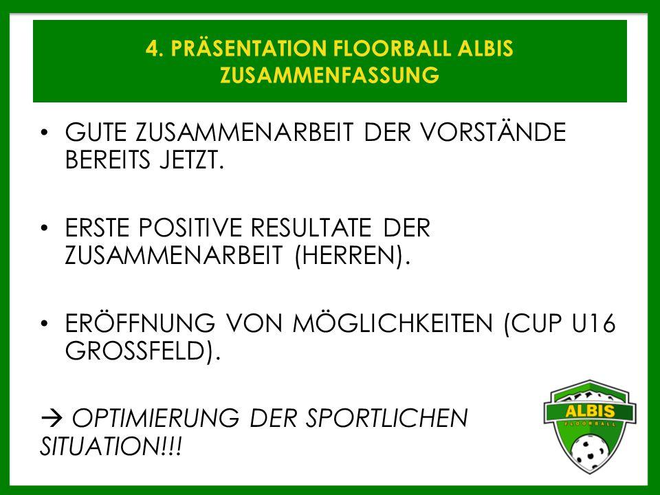 4. PRÄSENTATION FLOORBALL ALBIS ZUSAMMENFASSUNG