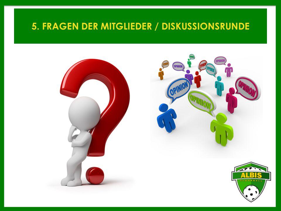 5. FRAGEN DER MITGLIEDER / DISKUSSIONSRUNDE