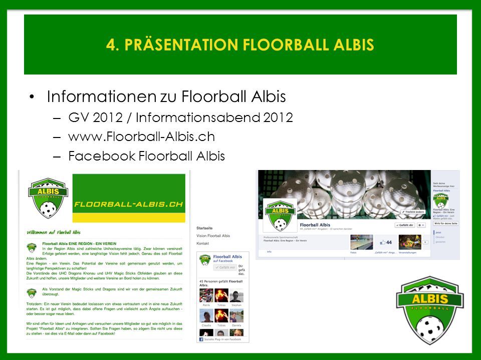 4. PRÄSENTATION FLOORBALL ALBIS
