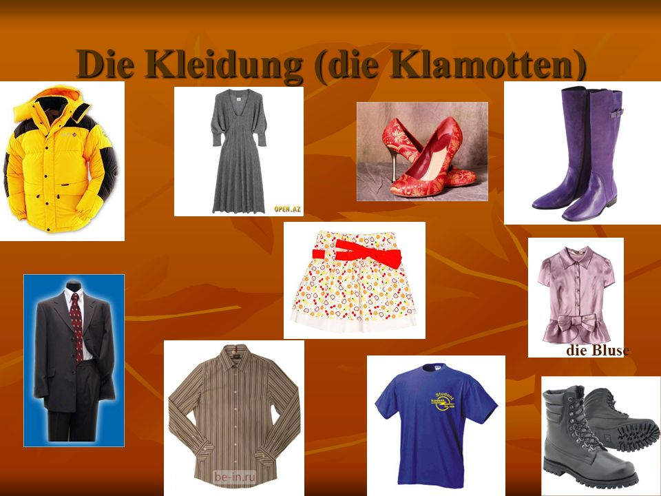 Die Kleidung (die Klamotten)