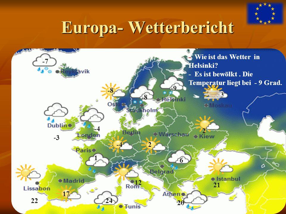 Europa- Wetterbericht