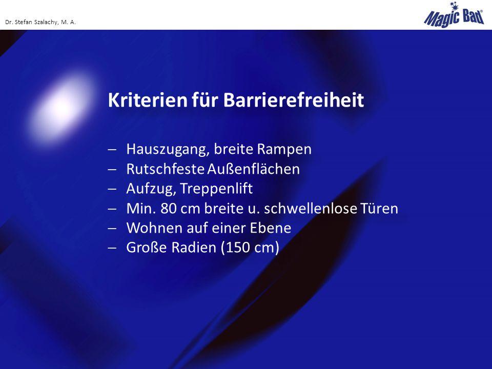 Kriterien für Barrierefreiheit