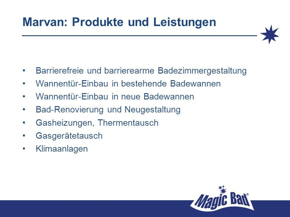 Marvan: Produkte und Leistungen