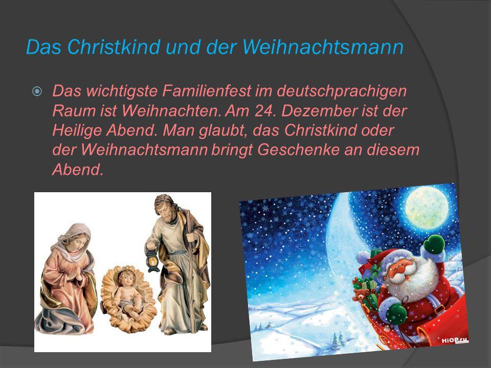 Das Christkind und der Weihnachtsmann