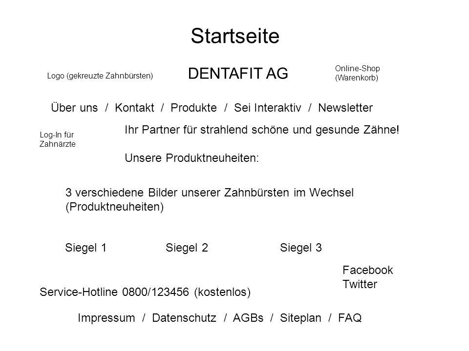 Startseite Über uns / Kontakt / Produkte / Sei Interaktiv / Newsletter