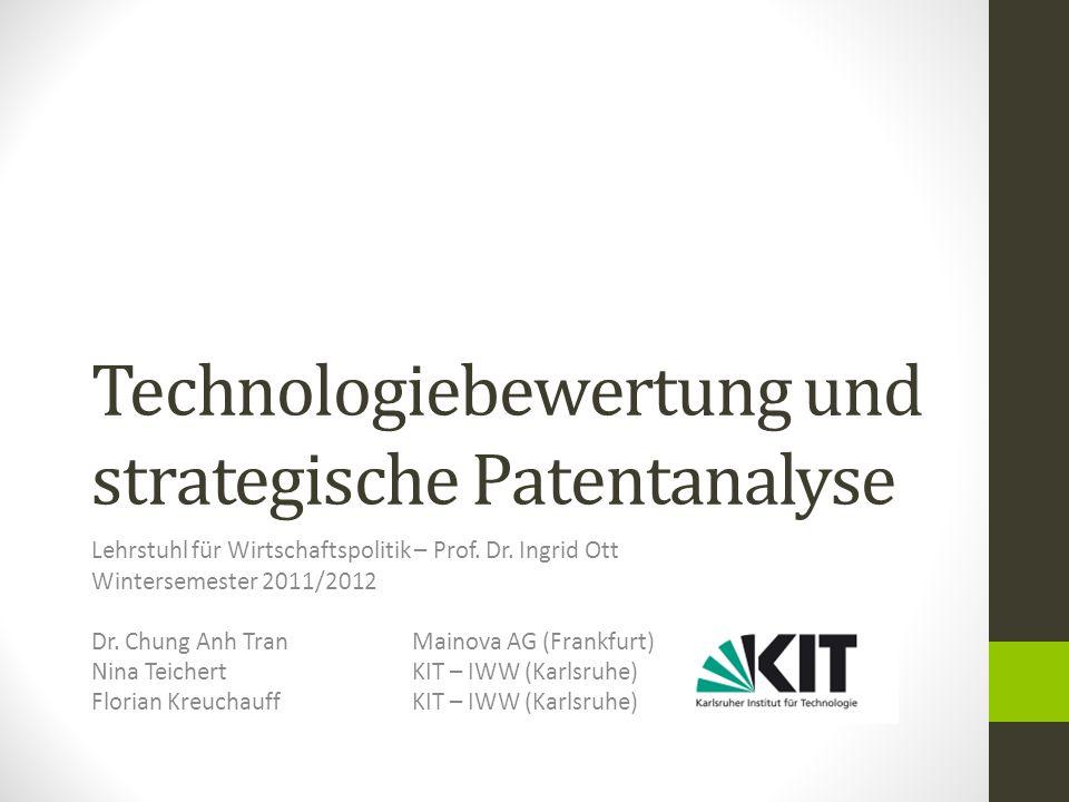 Technologiebewertung und strategische Patentanalyse