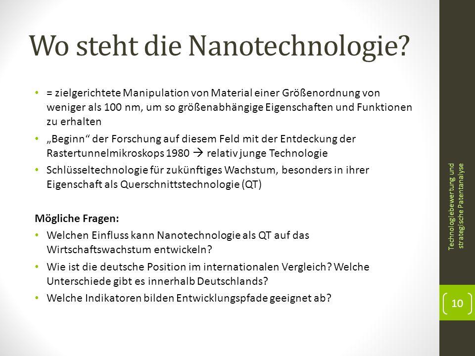 Wo steht die Nanotechnologie