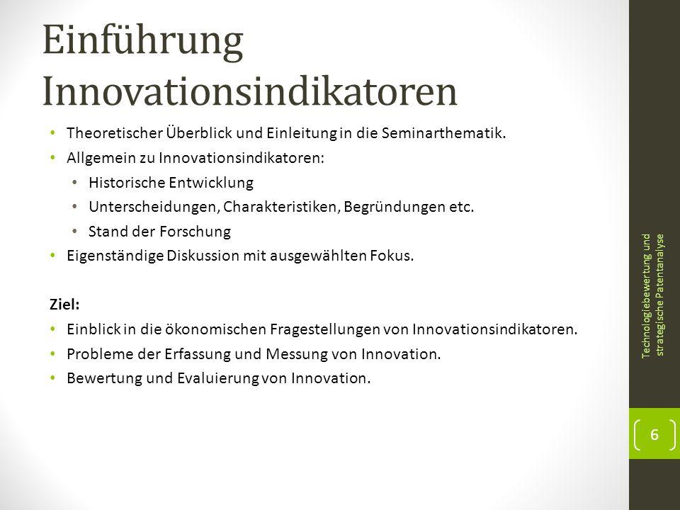 Einführung Innovationsindikatoren