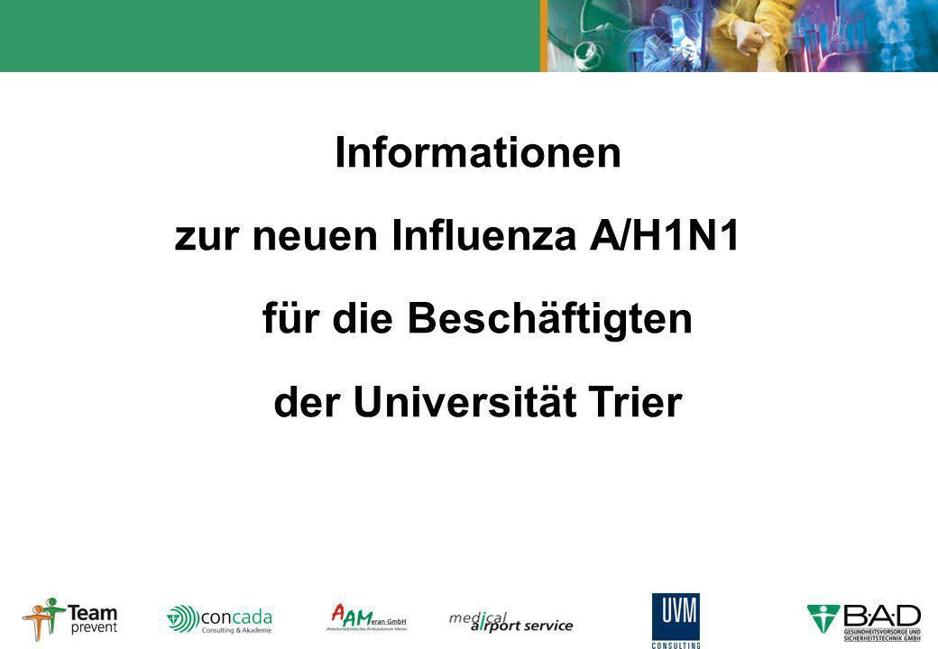 Informationen zur neuen Influenza A/H1N1