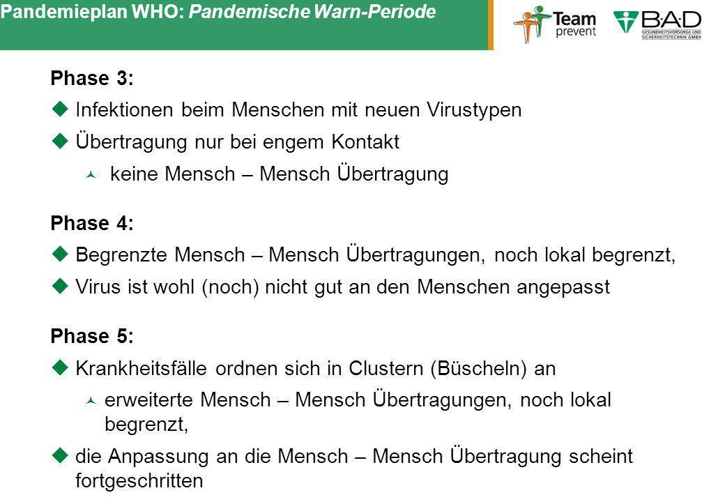 Pandemieplan WHO: Pandemische Warn-Periode