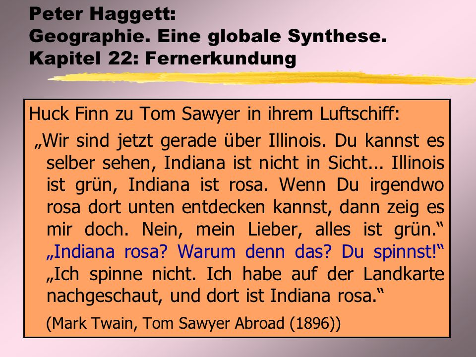 Peter Haggett: Geographie. Eine globale Synthese