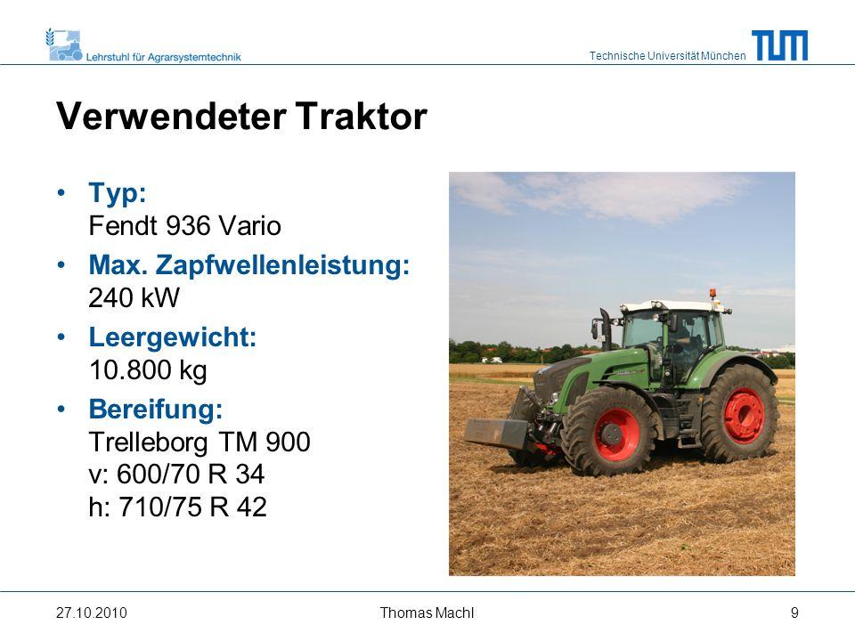 Verwendeter Traktor Typ: Fendt 936 Vario
