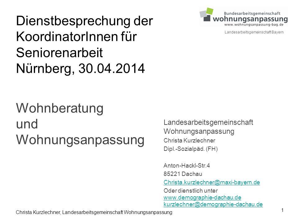 Dienstbesprechung der KoordinatorInnen für Seniorenarbeit Nürnberg, 30