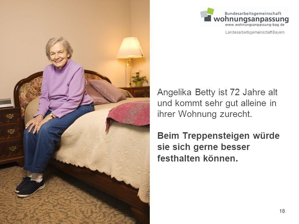 Angelika Betty ist 72 Jahre alt und kommt sehr gut alleine in ihrer Wohnung zurecht.