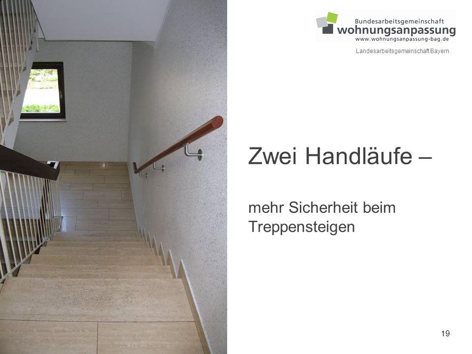 Zwei Handläufe – mehr Sicherheit beim Treppensteigen