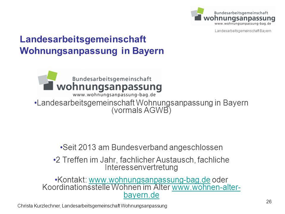 Landesarbeitsgemeinschaft Wohnungsanpassung in Bayern