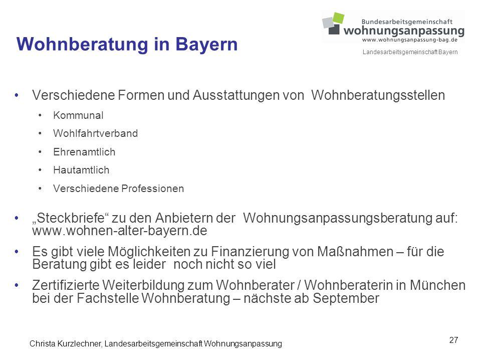 Wohnberatung in Bayern