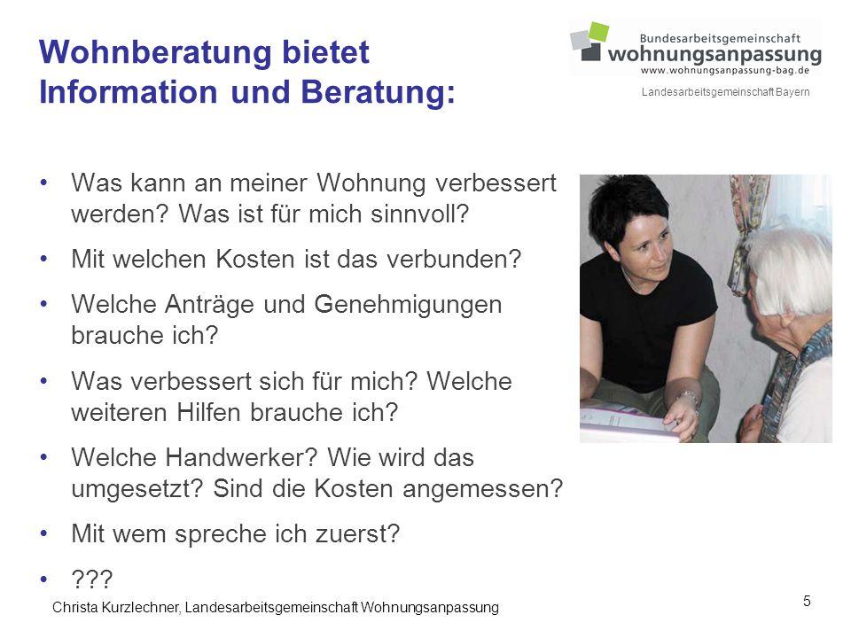 Wohnberatung bietet Information und Beratung: