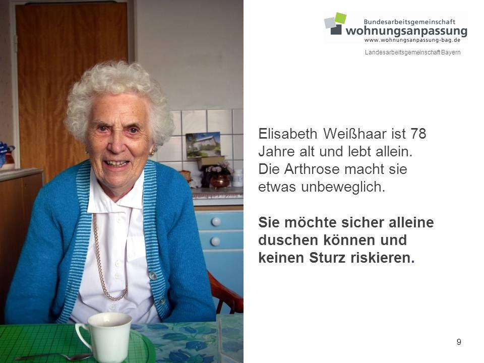 Elisabeth Weißhaar ist 78 Jahre alt und lebt allein