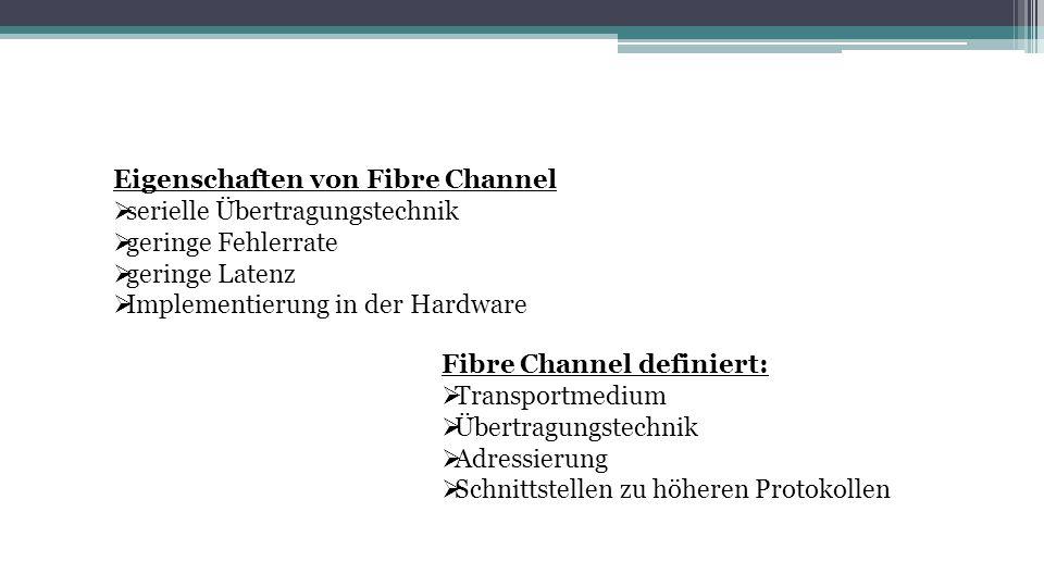 Eigenschaften von Fibre Channel