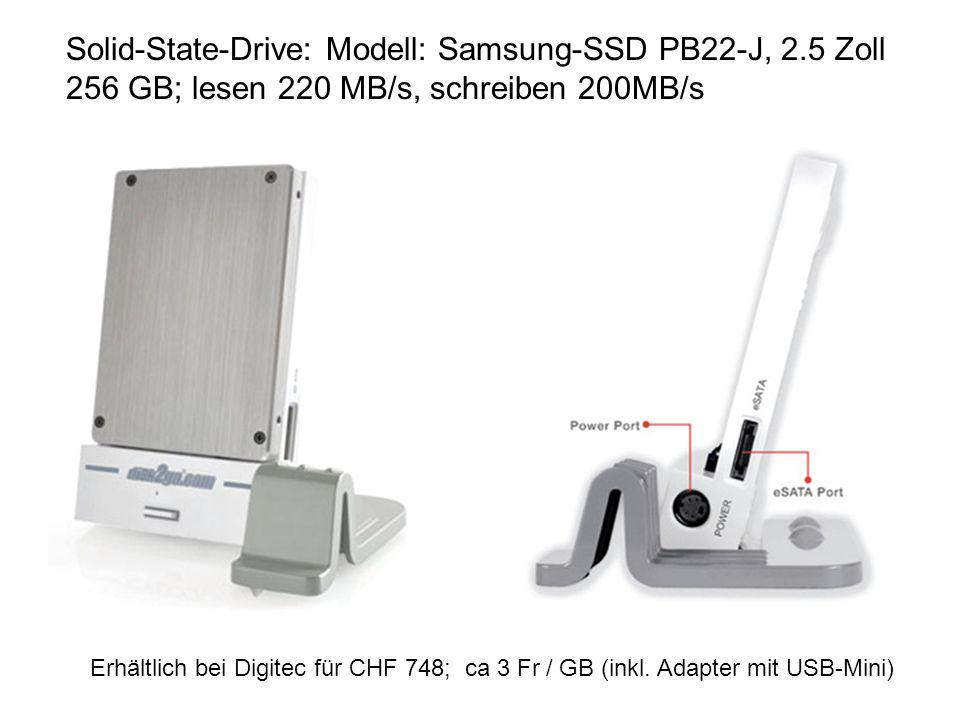 Solid-State-Drive: Modell: Samsung-SSD PB22-J, 2