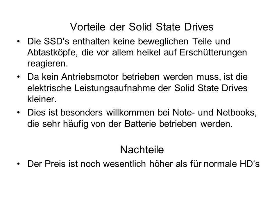 Vorteile der Solid State Drives