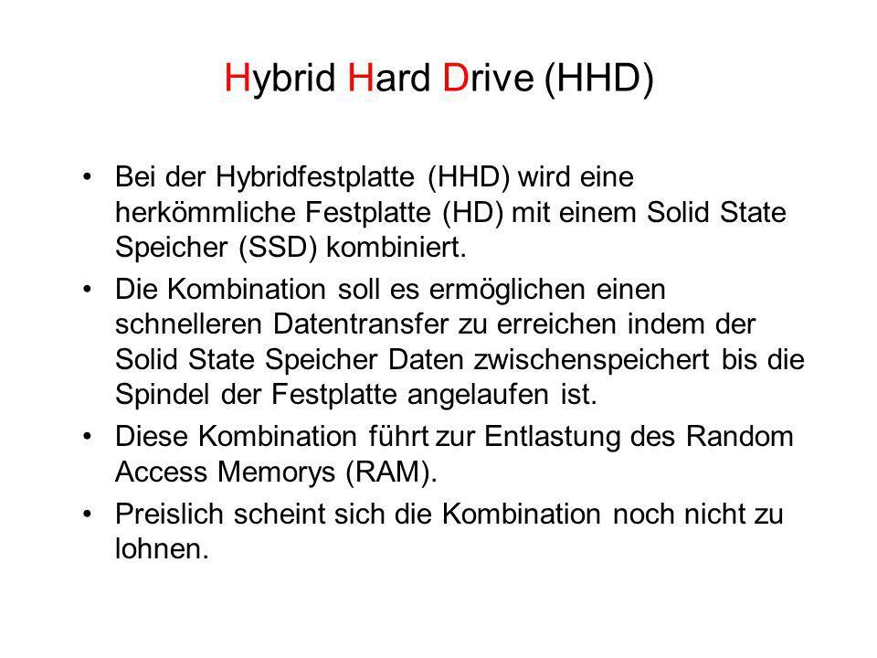 Hybrid Hard Drive (HHD)