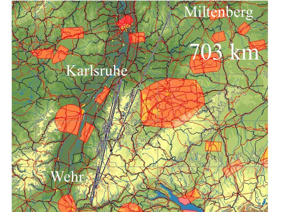 Miltenberg 703 km Karlsruhe Wehr