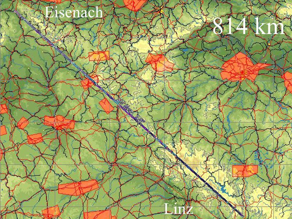 Eisenach 814 km Linz