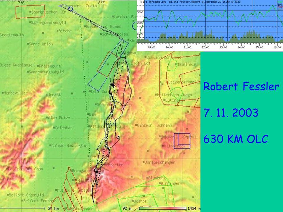 Robert Fessler 7.11.2003 Robert Fessler 7. 11. 2003 630 KM OLC