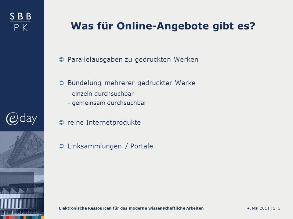 Was für Online-Angebote gibt es