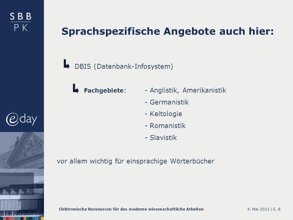 Sprachspezifische Angebote auch hier: