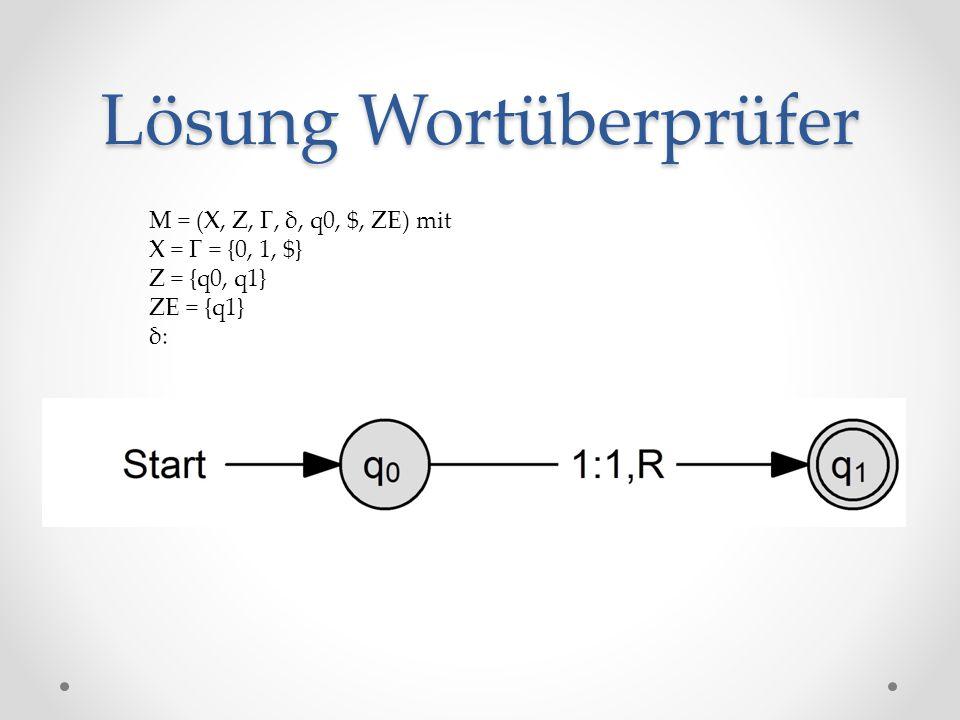 Lösung Wortüberprüfer