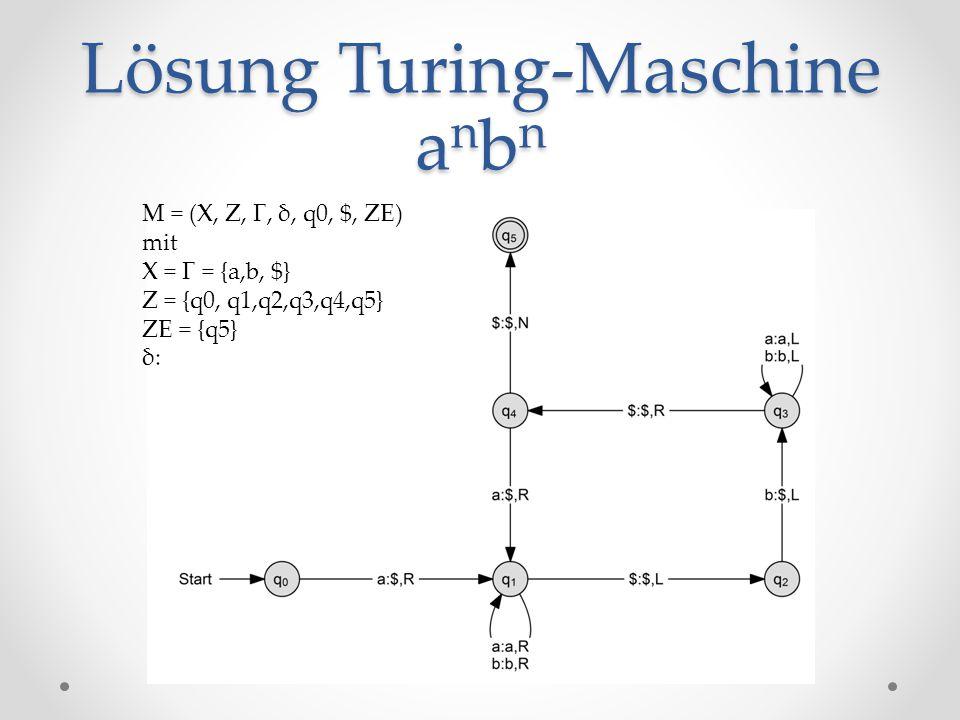 Lösung Turing-Maschine anbn