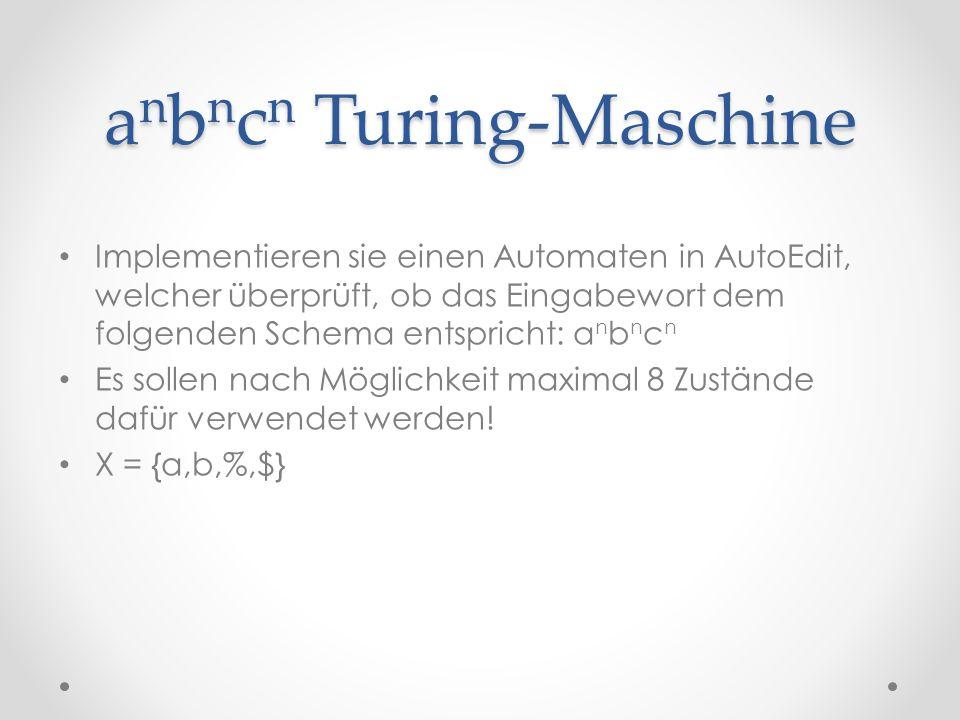 anbncn Turing-Maschine