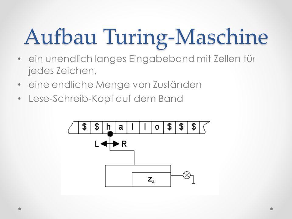 Aufbau Turing-Maschine