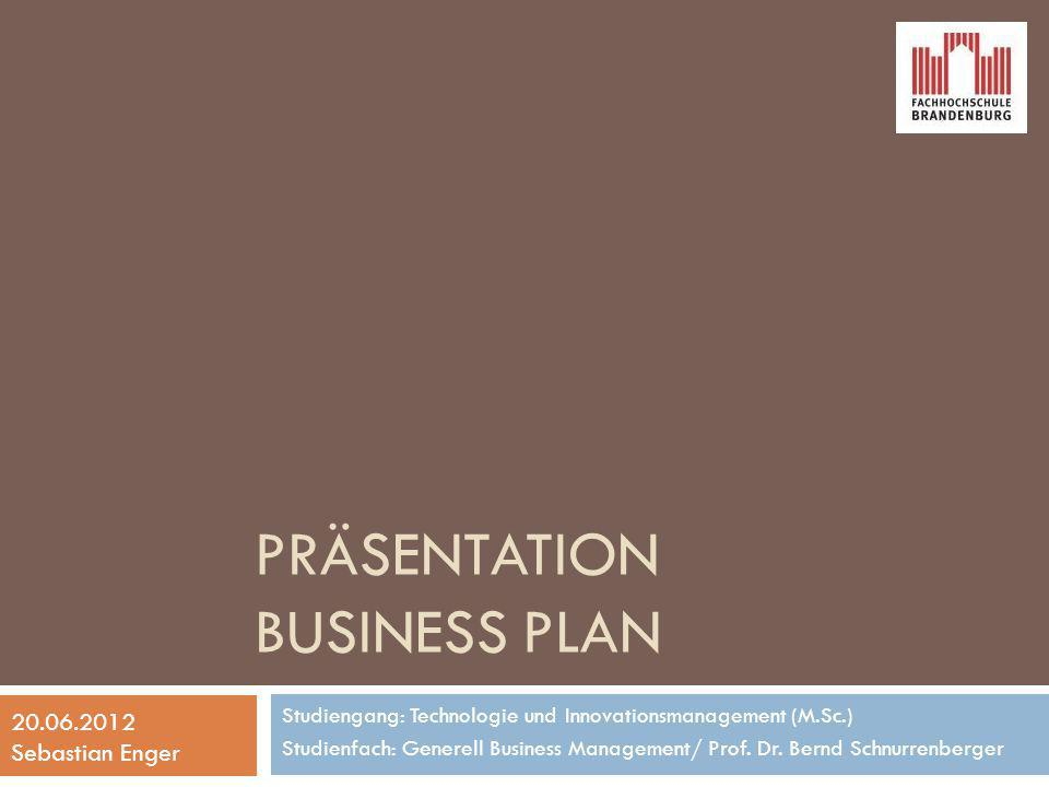 Präsentation Business Plan