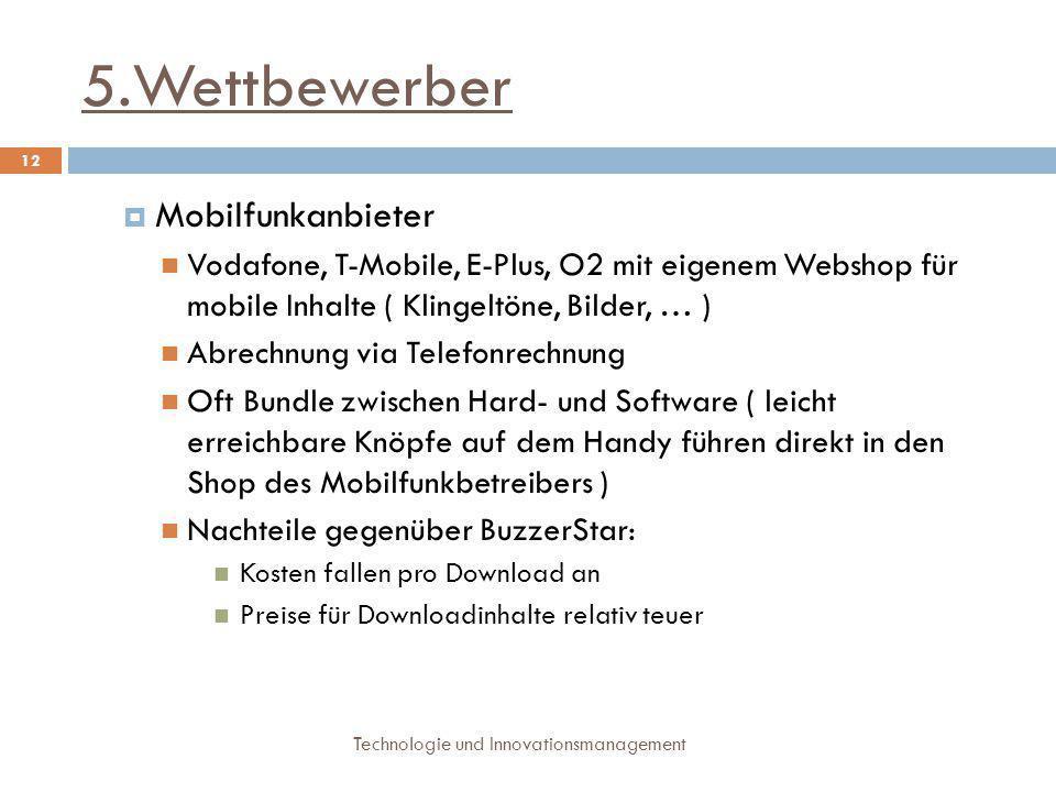 5.Wettbewerber Mobilfunkanbieter