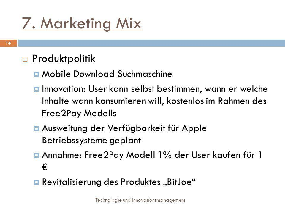 7. Marketing Mix Produktpolitik Mobile Download Suchmaschine