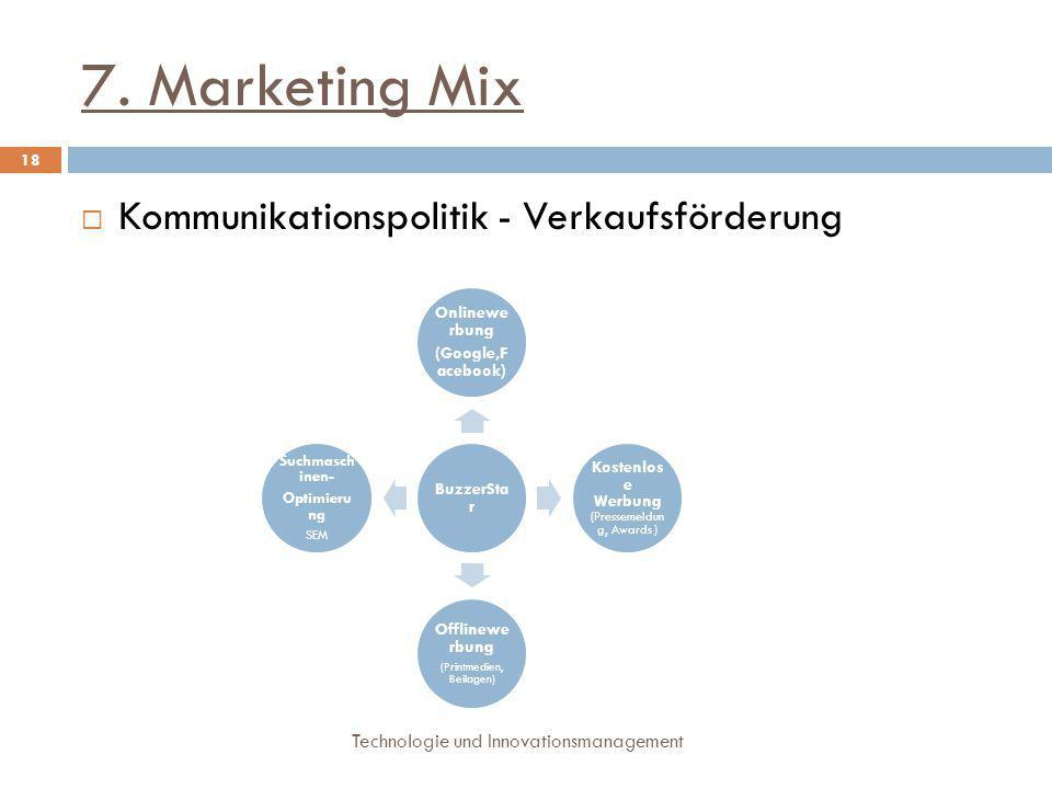 7. Marketing Mix Kommunikationspolitik - Verkaufsförderung