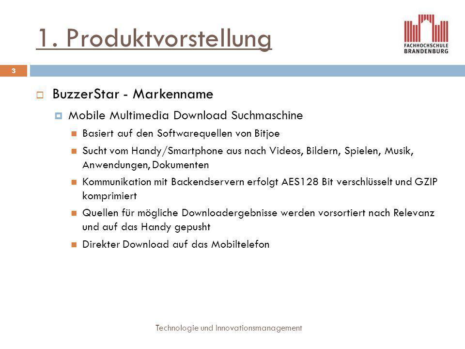 1. Produktvorstellung BuzzerStar - Markenname