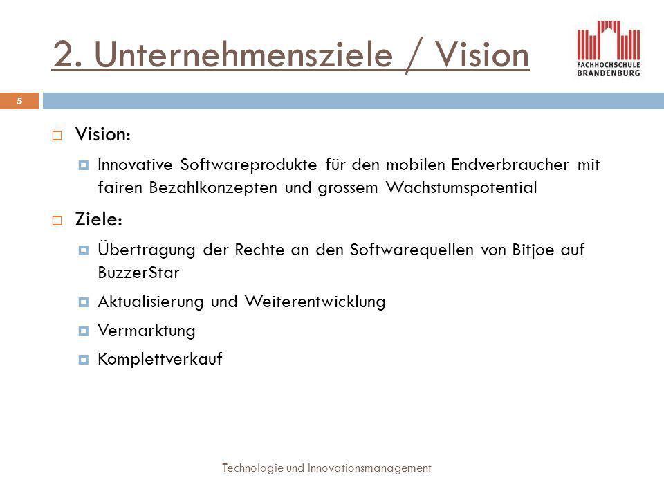 2. Unternehmensziele / Vision