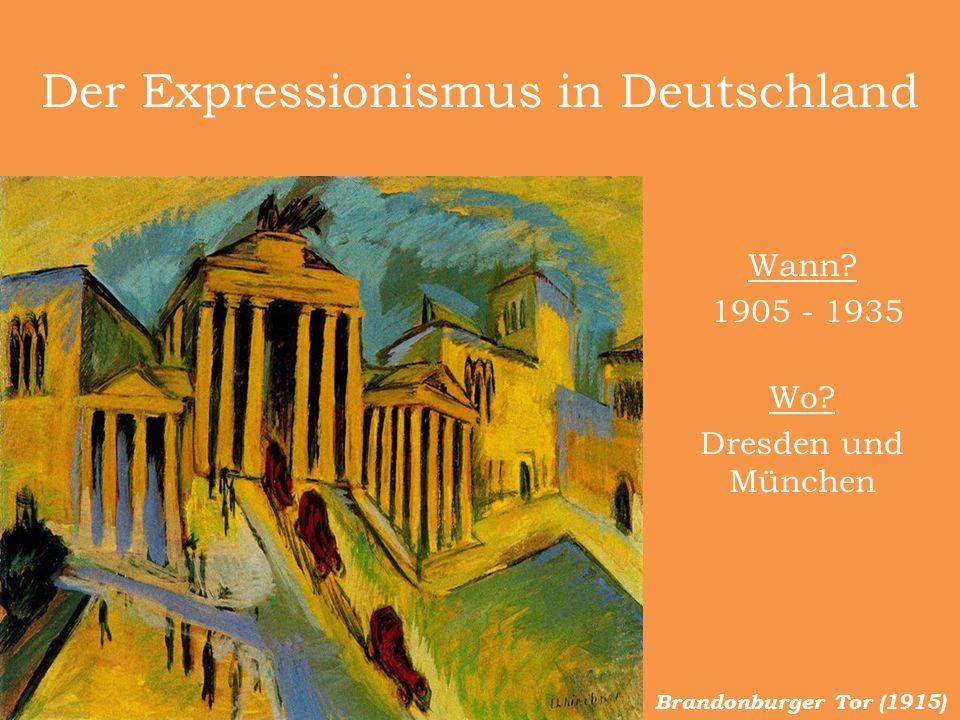 Der Expressionismus in Deutschland