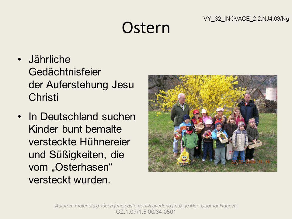 Ostern Jährliche Gedächtnisfeier der Auferstehung Jesu Christi