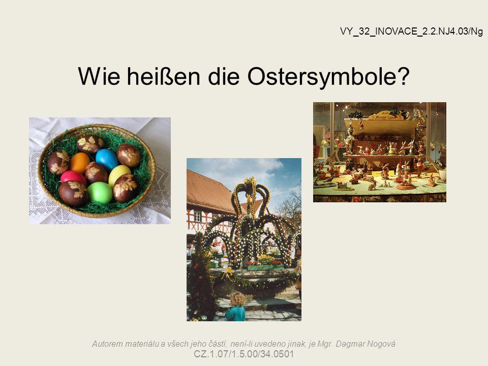 Wie heißen die Ostersymbole